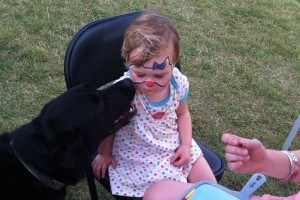 Child with Black Dog